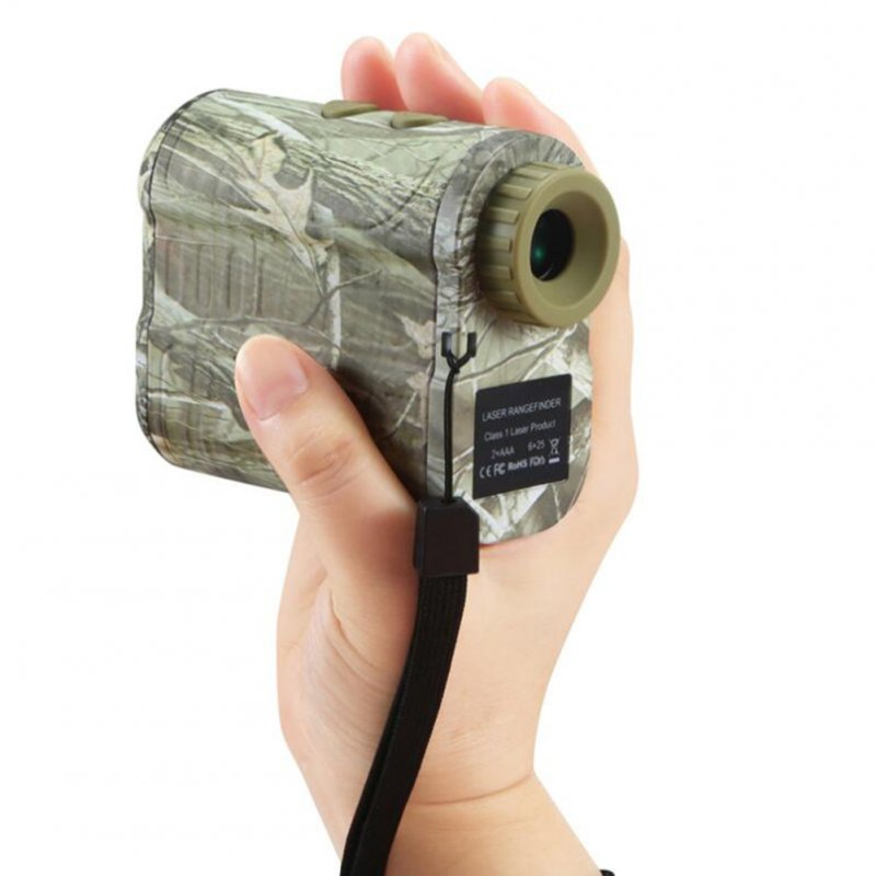600m Laser Diastimeter Hunting Telescope Distance Meter Golf Finder Angle Measuring Tool Camouflage