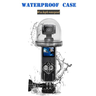 60M Waterproof Housing Case for DJI OSMO Pocket Case Diving Protective Shell  Transparent