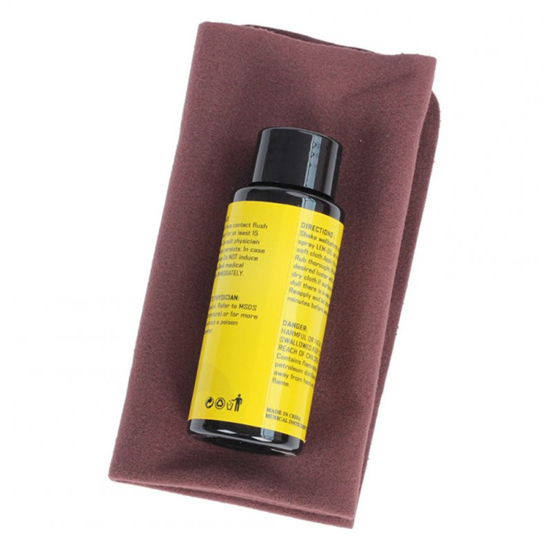 60ML Guitar Fingerboard Care Lemon Oil + Cleaning Cloth Set Guitar Parts Accessories Lemon oil + cleaning cloth set_Musical instrument universal