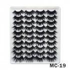 6D Mink False Eyelashes Handmade Extension Beauty Makeup False Eyelashes MC-19
