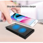7 5W 10W Wireless Charger Stand for iPhone Android Cellphone Fast and Safe Charging Dock Portable Travel Holder black