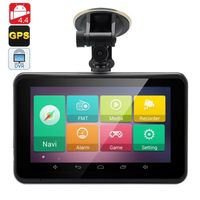 7 Inch Android 4.4 GPS Dash Cam - Touchscreen , FM Transmitter, Wi-Fi