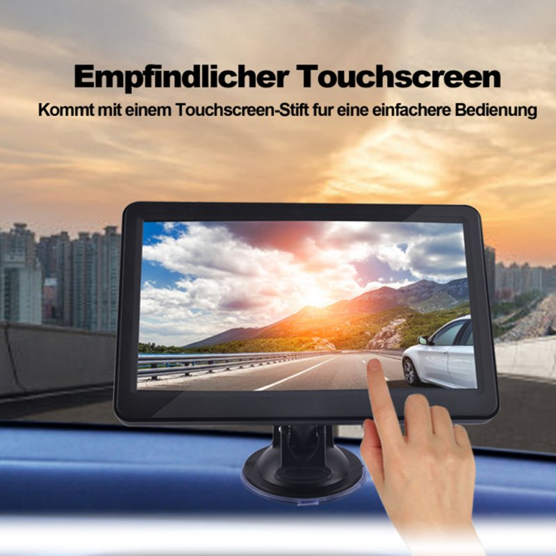 7 inch Car Truck GPS Navigation 256M RAM 8G support Russia/EU/N&South America/Asia/Africa/AU NZ Maps black_South America map