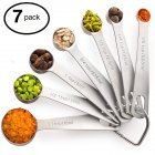 7Pcs/Set Stainless Steel Measuring Spoon Baking Tools Kitchen Gadget Stainless steel