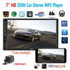 7inch 2 Din Car Radio MP5 Stereo Receiver Auto radio Car Stereo Audio Radio Mirror Link Support Rear Camera Without camera