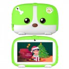 7inch Cartoon Puppy Tablet PC Android 4.4 1GB+8GB WiFi Dual Cameras LED Backlight Kid Laptop EU Plug green_1GB+8GB