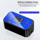 8 Port 8 A Charger Adapter Hub Quick Charge 3.0 USB Multi Port USB Charger Dock Station blue