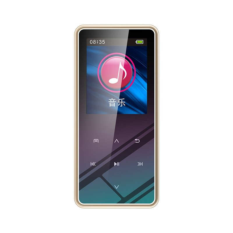 8GB/16GB/32GB M12 1.5 Inch MP4 Player LCD Display Bluetooth V4.2 800ma Battery MP3 Mini MP4 Lossless HIFI Music Vedio Player Gold with Bluetooth