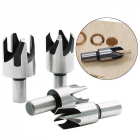 Wood Plug Hole Cutter Drill Bits Set Silver