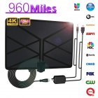 960 Miles TV Aerial Indoor Amplified Digital HDTV Antenna with 4K UHD 1080P DVB T Freeview TV for Life Local Channels Broadcast As shown