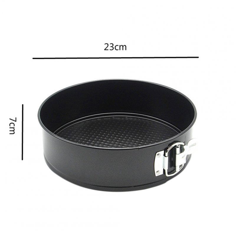 9Inch Round Baking Tray for Cake Durable Heavy Carbon Steel Material with Activity Lock black