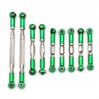 9Pcs WLtoys 12428 FY-03 Adjustable Metal Pull Rod for 1:12 RC Car Upgrade Accessories green