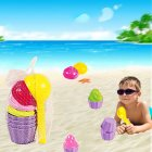 9pcs/Set Kids Baby Beach Sand Toys Ice Cream Mould Spoon Play Sand and Snow Toy