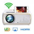 A20 Mini Projector HD 1080P TV Projector Home Cinema Projector  Same screen white UK plug