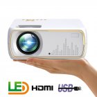 A20 Mini Projector HD 1080P TV Projector Home Cinema Projector  Basic white UK plug