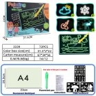 A4 A5 LED Luminous Drawing Board Graffiti Doodle Drawing Tablet Magic Draw with Light-Fun Fluorescent Pen Educational Toys A4 large (1 stroke)