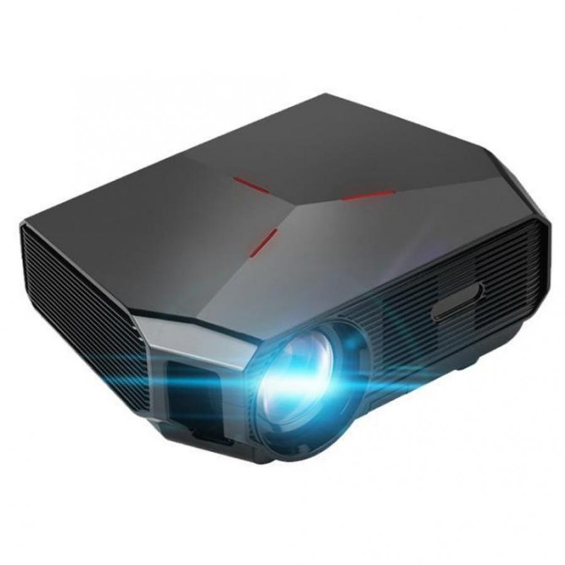 A4300 Mini Digital Projector 720P High Definition LED Home Projector Portable black_AU Plug