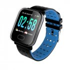A6 IP67 Waterproof Smart Watch Heart Rate Monitor Bracelet Wristband for Android iOS blue