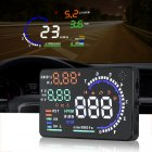 A8 Universal 5.5 Inch Car HUD Head Up Display OBDII Speed Warning Fuel Consumption Automobile Car Alarm System Black