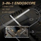 AN100 Rigid Line Endoscope Camera Flexible IP67 Waterproof Inspection Borescope Camera Hard line 2 meters