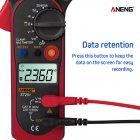 ANENG ST201 Digital Clamp Multimeter Ammeter Transistor Tester Voltage Tester Red Color red