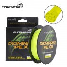 ANGRYFISH Diominate PE X8 Fishing Line 500M/547YDS 8 Strands Braided Fishing Line Multifilament Line Yellow 5.0#:0.37mm/60LB