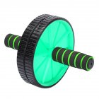 Abs Wheel Body Exercise Gym Roller Abdominal Core Exerciser Strength Workout Fitness Trainer green