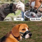 Adjustable Breathable Anti Bark Nylon Dog Mouth Cover for Outdoor Use black_L36-60cm