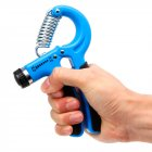 Adjustable Hand Grip Indoor Leisure Sports R-shape Strength Exercise with Counter Hand Strength Exercise Fitness Tool blue