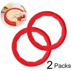Adjustable Pie Crust Shield Silicone Pie Protectors Bake Cover Kitchen Tool  red