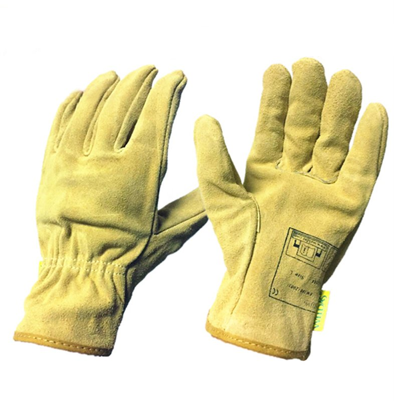 Adult Electric Welding Gloves Wear Resistance Non-slip Working Driving Leather Gloves Unisex XL