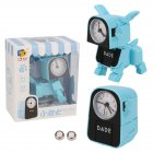 Alarm Robot Kid Toy Deformation Table Clocks Creative Cartoon Desk Clock Kids Gift blue