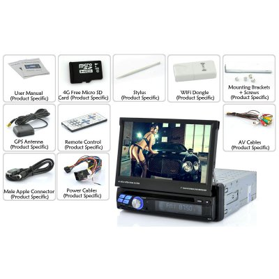 """1 DIN Android Car DVD Player """"Road Patronage"""" 7 inch Screen 3G WiFi Bluetooth"""