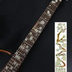Animal Plant Pattern Guitar Fingerboard Fretboard Stickers Guitar Decals Decoration C  (sakura)