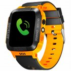 Anti-lost Child Kid Smartwatch Positioning GPS Wristwatch Track Location SOS Call Safe Care Y21 touch screen + camera black orange