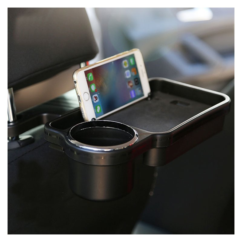 Auto Drink Food Cup Tray Car Back Seat Table Folding Interior Water Coffee Holder Stand Desk