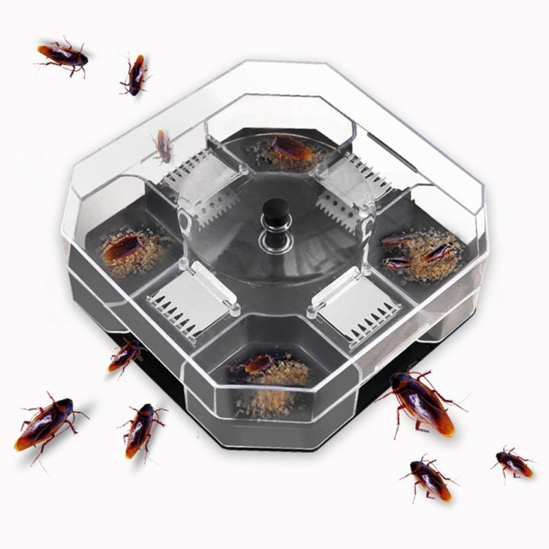 Automatic Cockroach Traps Box Reusable Cockroach Bug Catcher Cockroach Bait Traps Pesticide for Kitchen black