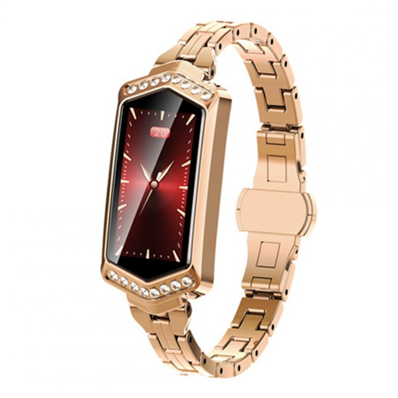 B78 Women Smart Watch Fitness Bracelet Heart Rate Tracker Physiological Cycle Monitor Bluetooth Sports Smartwatch Gold