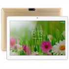 BDF 10inch 3G Phone Call Tablet PC Android 7.0 4G+64G Dual SIM Card WiFi Bluetooth Plastic Back Laptop EU Plug Gold_4GB+64GB