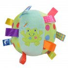 Baby Ball Plush Ball Toy Super soft comfort ball Easy to Grasp Bumps Help Develop Motor Skills  frog