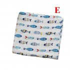 Baby Cotton 2-layer Bath Towel Newborn Towel Stroller Seat Blanket E_120*120
