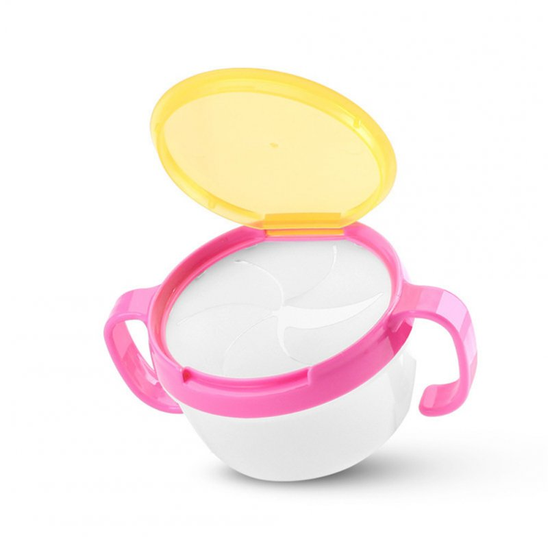 Baby Cute Snack Cup Toddler Tableware Anti-Skip Double-handle Prevent Splashing Baby Cup Pink