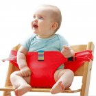 Baby Dining Chair Safety Belt Portable Seat Lunch Chair Seat Stretch Wrap Feeding Chair Harness baby Booster Seat red