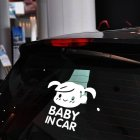 Baby In Car Letters Type Sticker