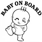 Baby On Board Cute Car Stickers Fashion Warning Decals