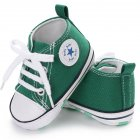 Baby Shoes Soft Sole Fashion Canvas Infant Toddler Sports Leisure Shoes green 13CM