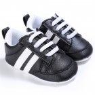 Baby Shoes Spring and Autumn Sports Soft-soled Toddler Shoes for 0-18M Babies Black white border_13