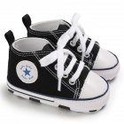 Baby Soft Soled Shoes Canvas Breathable Shoes black_11CM bottom length