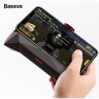 Baseus Game Phone Holder Cooler Heat Sink Cooling Game Controller Handle Holder for iPhone XS MAX X Samsung S10 S9 Mobile Phone  black