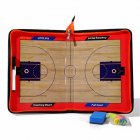 Basketball Zippered Tactics Research Clipboard Magnetic Folder Coaching PVC Board Big magnet zipper (basketball) tactic board